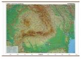 Harta Romania Fizico –Geografica + harta contur 160 x 120 cm cod:R890717