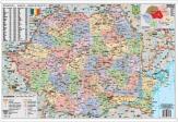 Harta Romania Administrativa dimensiuni 100 X 70 cm cu sipci de plastic cod: R890417F