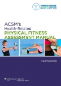 "ACSM""s Health-Related Physical Fitness Assessment Manual"