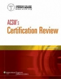"ACSM""s Certification Review"