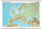 Harta Europa Fizico Geografica + Harta Contur 160 x 120 cm cod:R278017