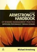 "Armstrong""s Handbook of Reward Management Practice"