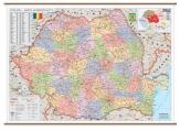 .Harta Romania Administrativa dimensiuni 200 x 140 cm Print digital cod:R890417D4